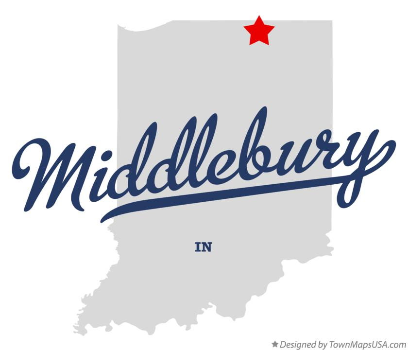 Map of Middlebury Indiana IN