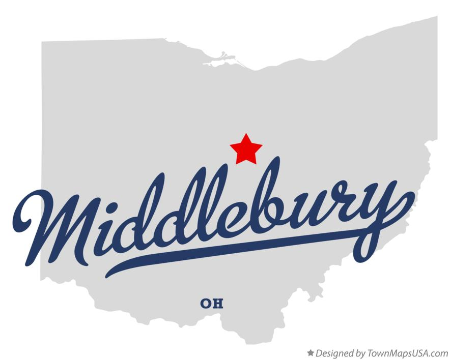 Map of Middlebury Ohio OH