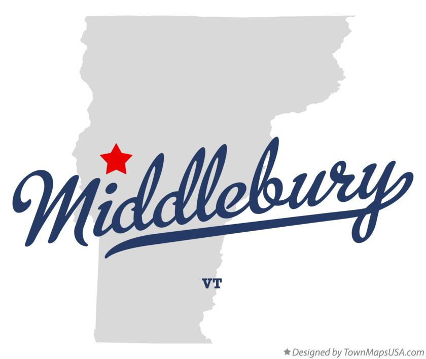 Map of Middlebury Vermont VT