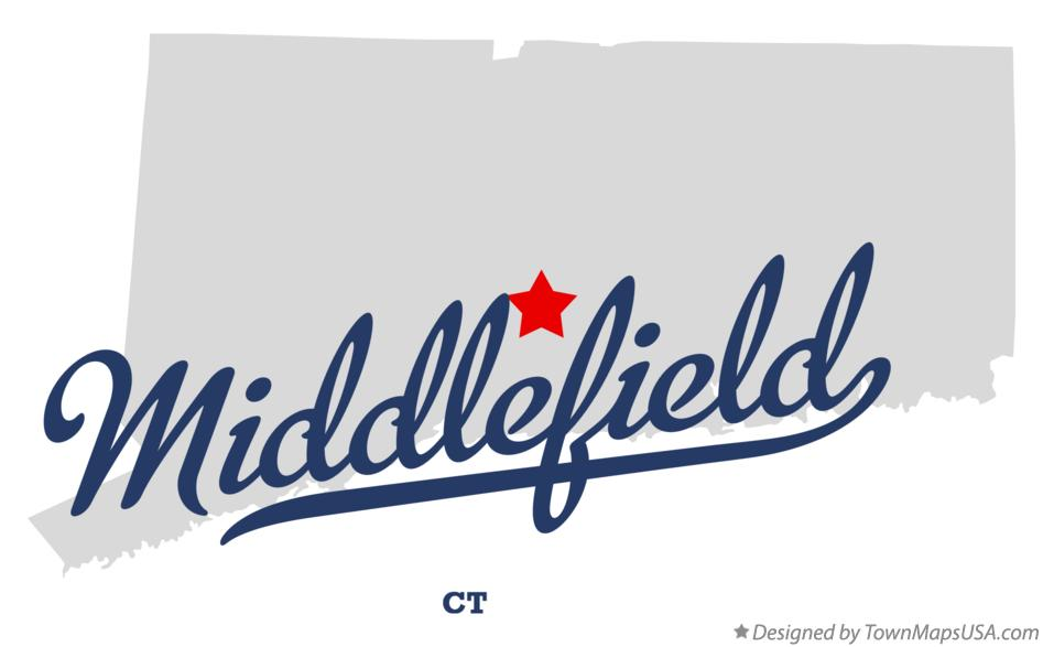 Map of Middlefield Connecticut CT