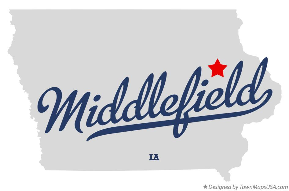 Map of Middlefield Iowa IA