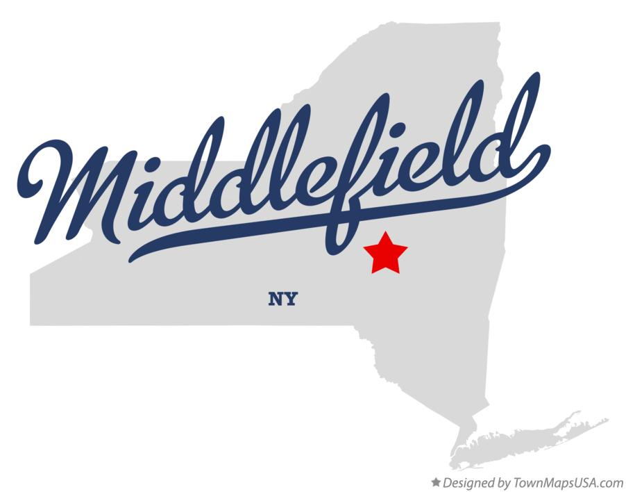 Map of Middlefield New York NY