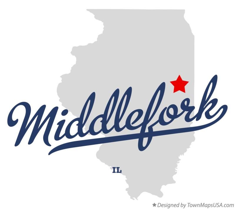 Map of Middlefork Illinois IL