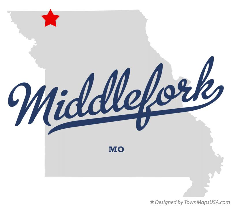 Map of Middlefork Missouri MO