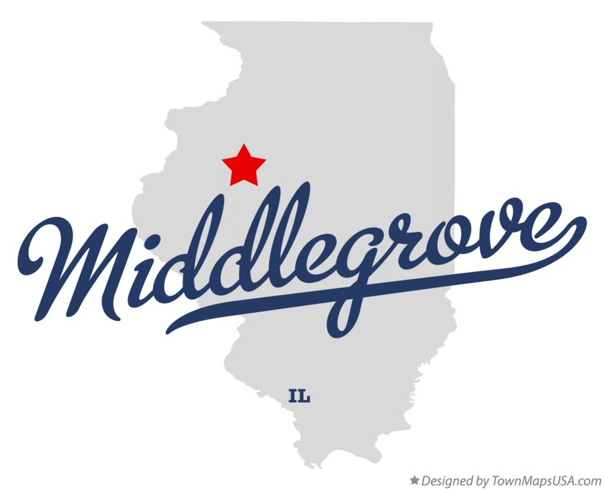 Map of Middlegrove Illinois IL