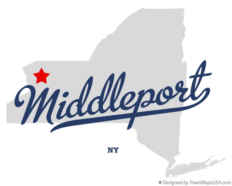 Map of Middleport New York NY