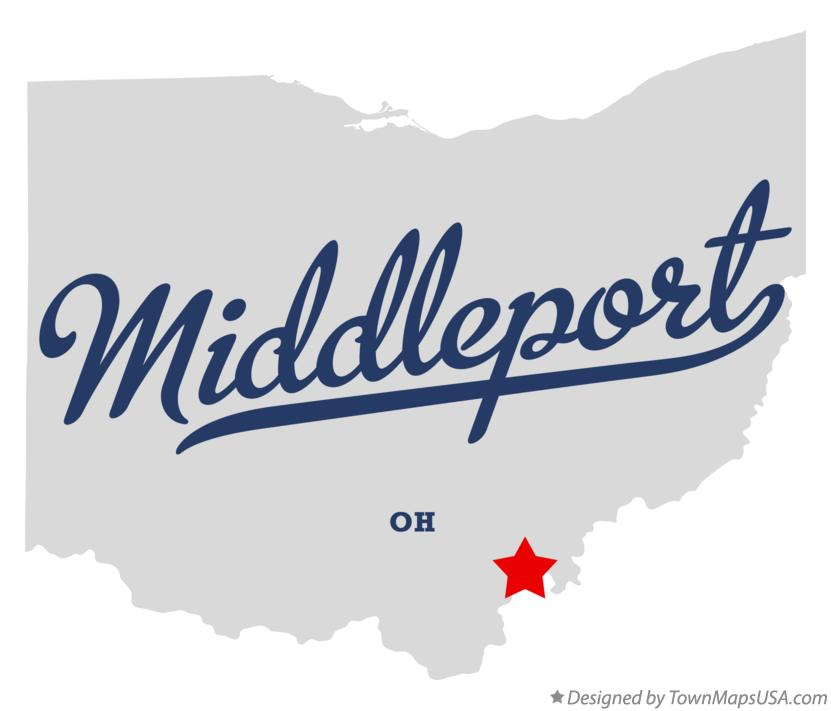 Map of Middleport Ohio OH