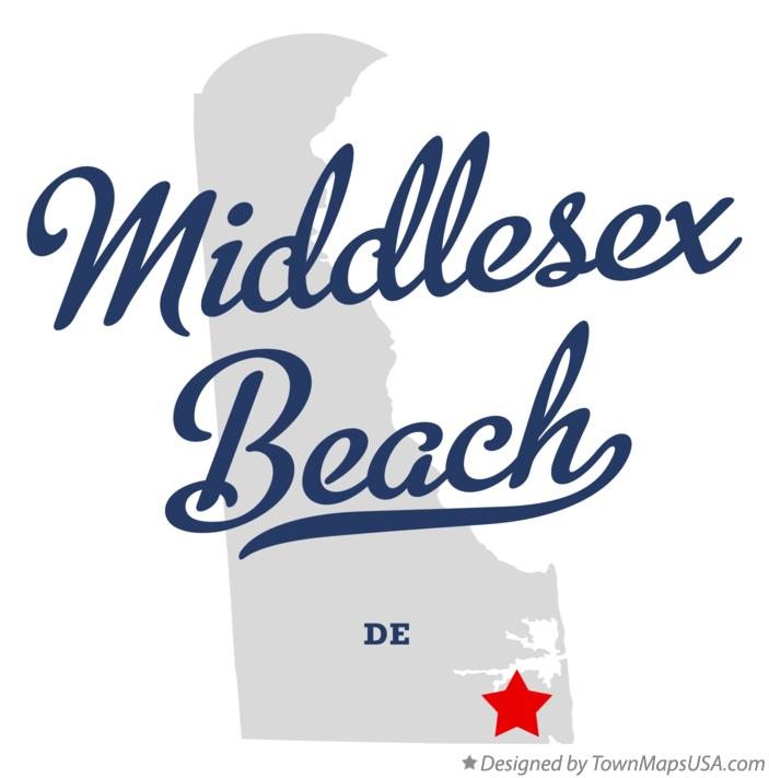Map of Middlesex Beach Delaware DE