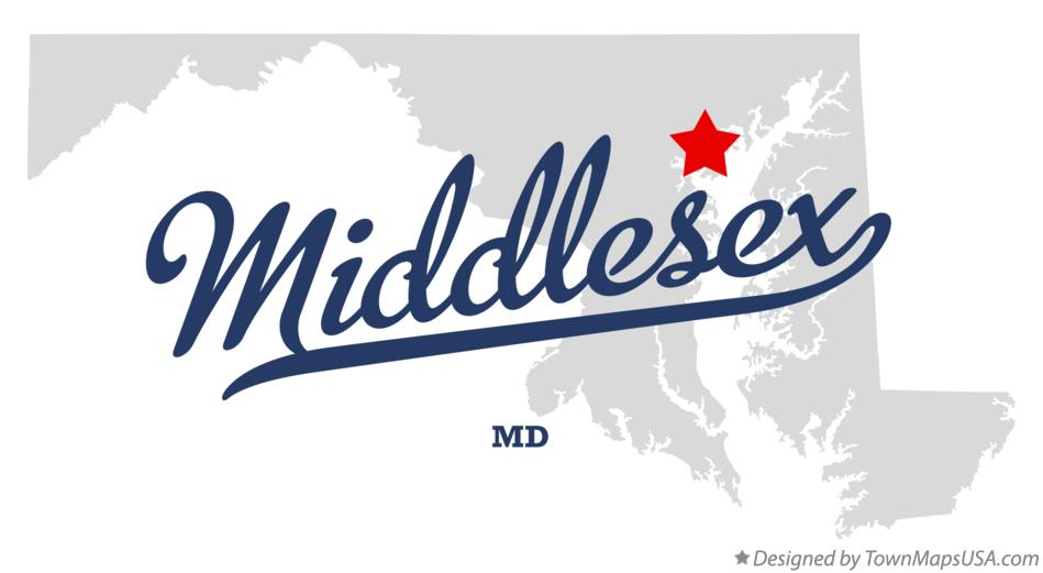 Map of Middlesex Maryland MD