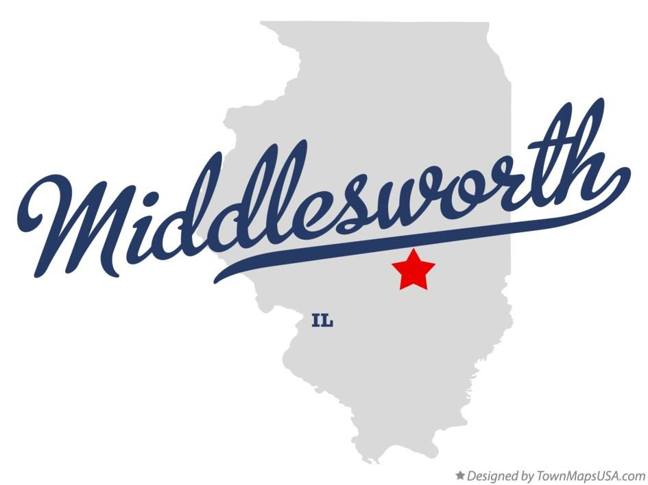 Map of Middlesworth Illinois IL