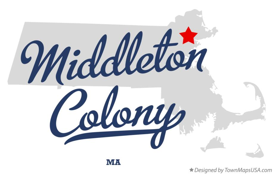 Map of Middleton Colony Massachusetts MA