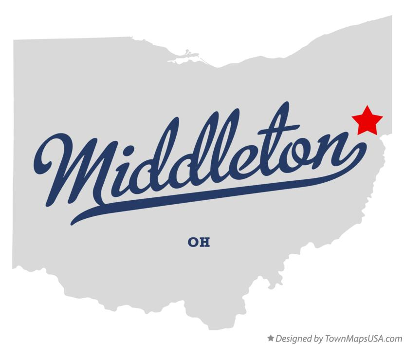 Map of Middleton Ohio OH