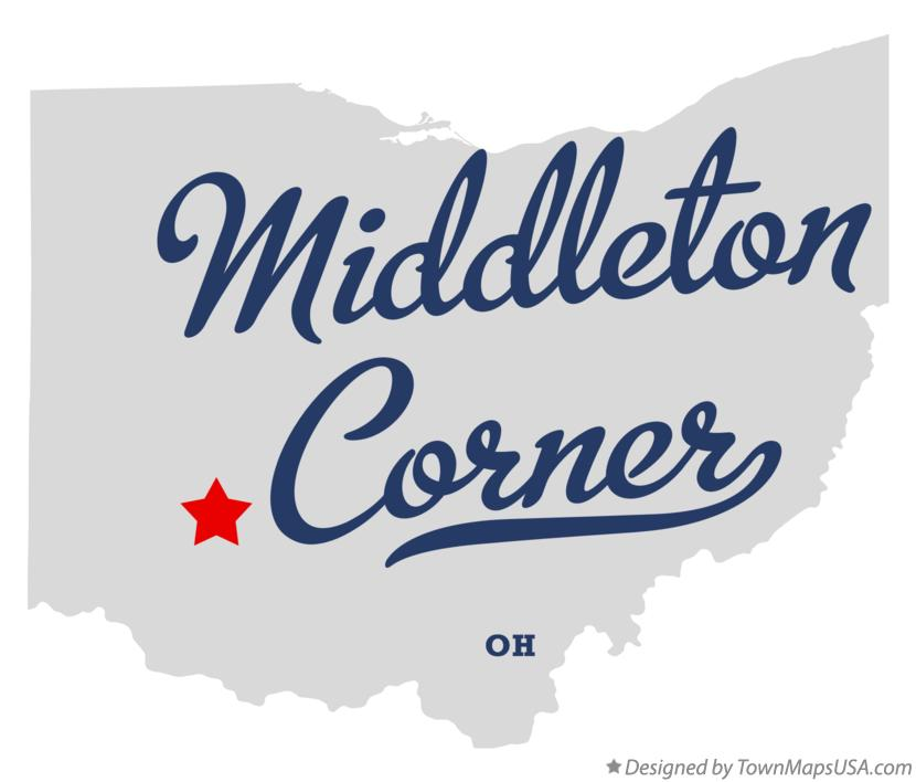Map Of Middleton Corner Oh Ohio