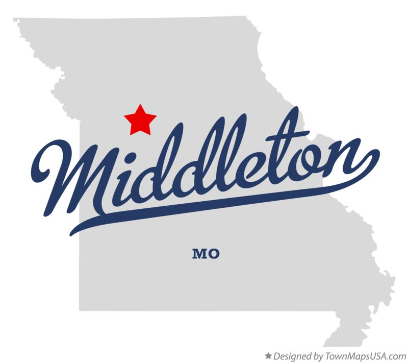Map of Middleton Missouri MO