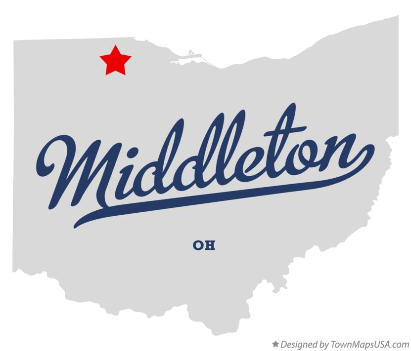 Map Of Middleton Wood County Oh Ohio