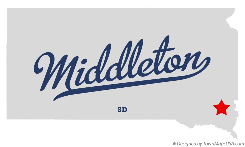 Map of Middleton South Dakota SD