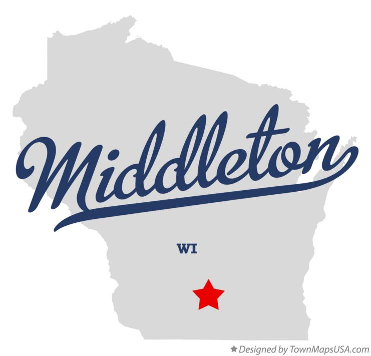 Map of Middleton Wisconsin WI