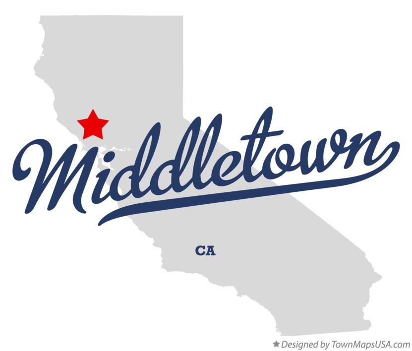 Map of Middletown California CA