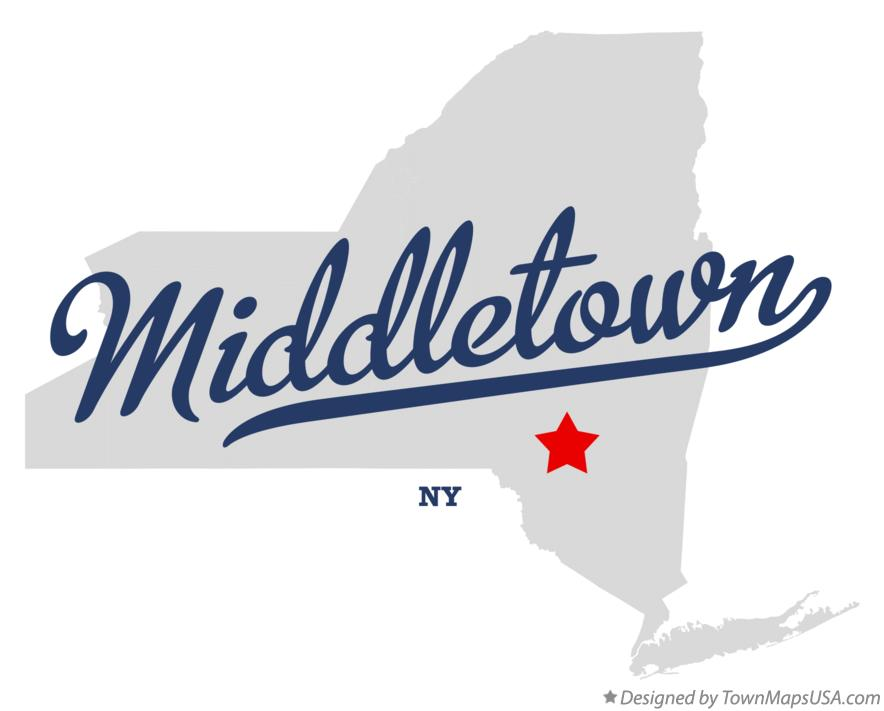 Map of Middletown New York NY