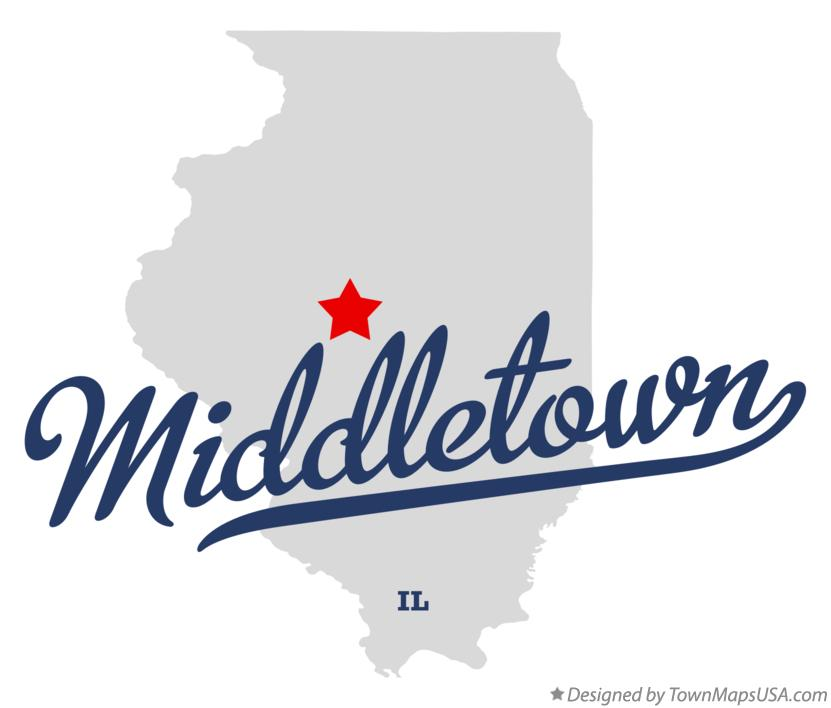 Map of Middletown Illinois IL