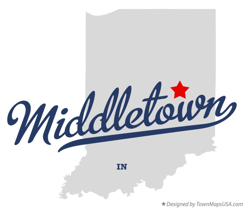 Map of Middletown Indiana IN