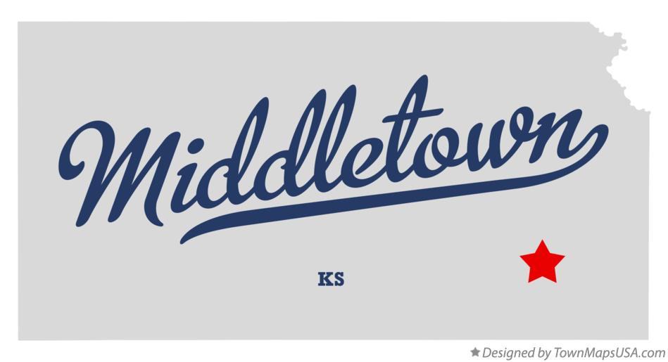 Map of Middletown Kansas KS