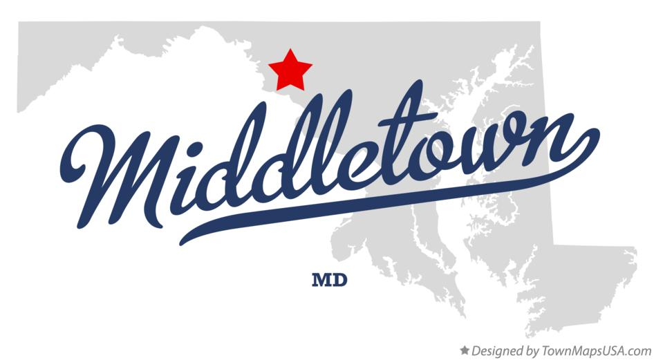 Map of Middletown Maryland MD