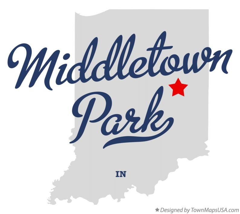 Map of Middletown Park Indiana IN