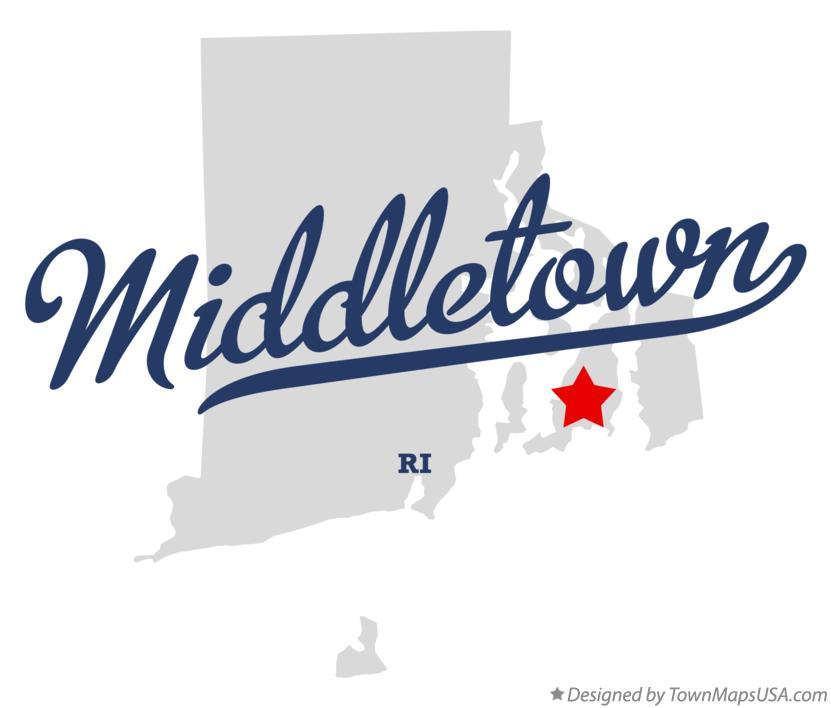 Map of Middletown Rhode Island RI