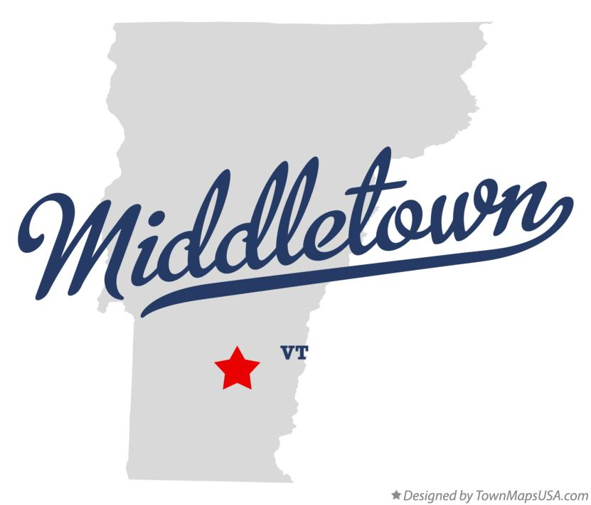 Map of Middletown Vermont VT
