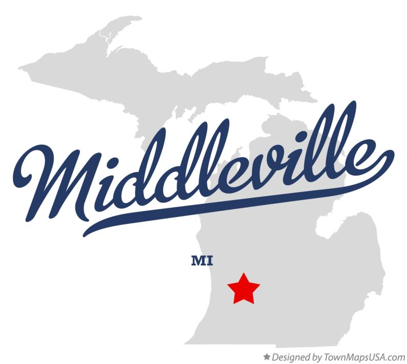 Map of Middleville Michigan MI