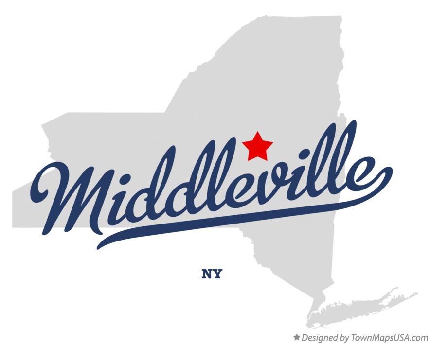 Map of Middleville New York NY