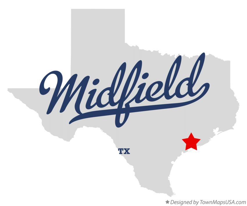 Map of Midfield Texas TX