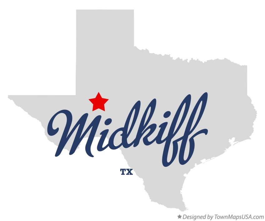Map of Midkiff Texas TX