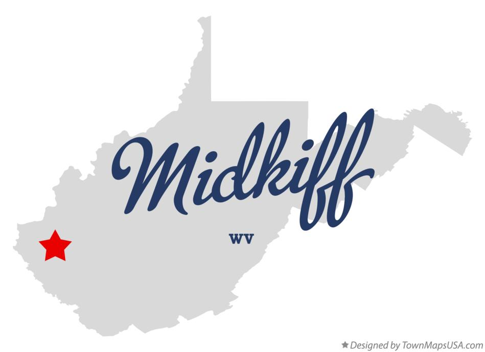 Map of Midkiff West Virginia WV