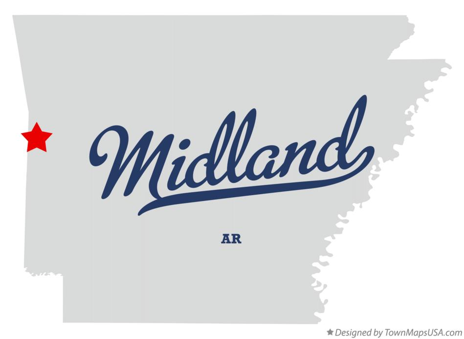 Map of Midland Arkansas AR