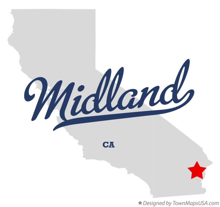Map of Midland California CA