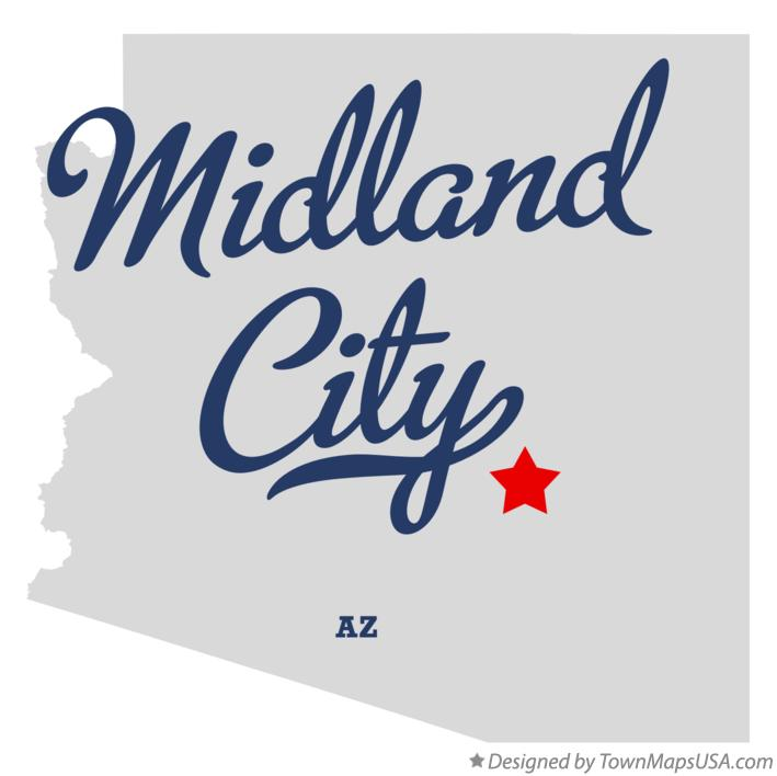 Map of Midland City Arizona AZ