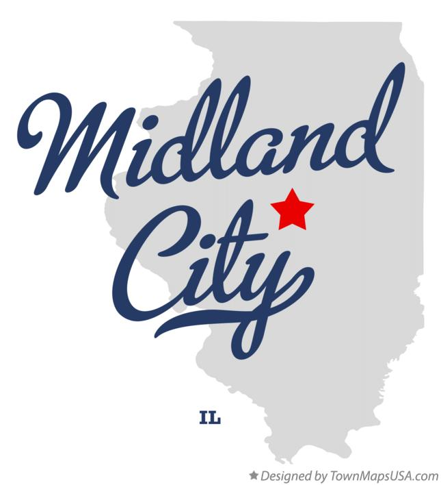 Map of Midland City Illinois IL