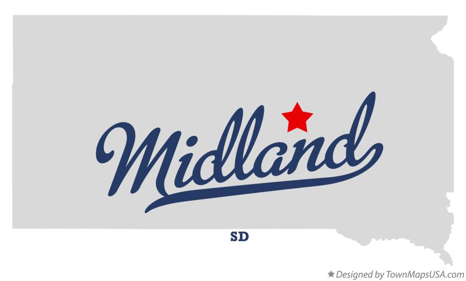 Map of Midland South Dakota SD