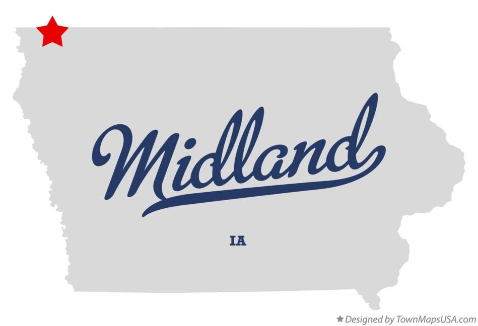 Map of Midland Iowa IA