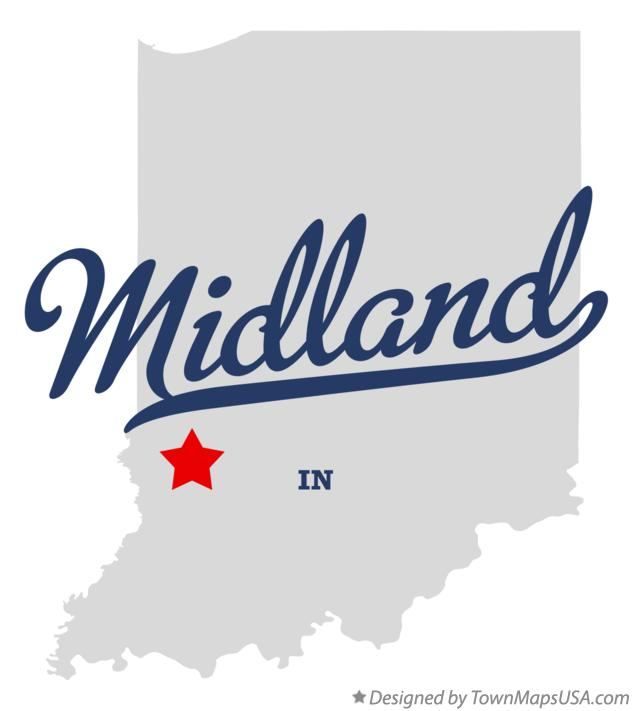 Map of Midland Indiana IN