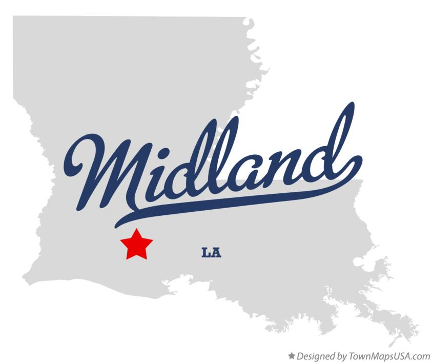 Map of Midland Louisiana LA