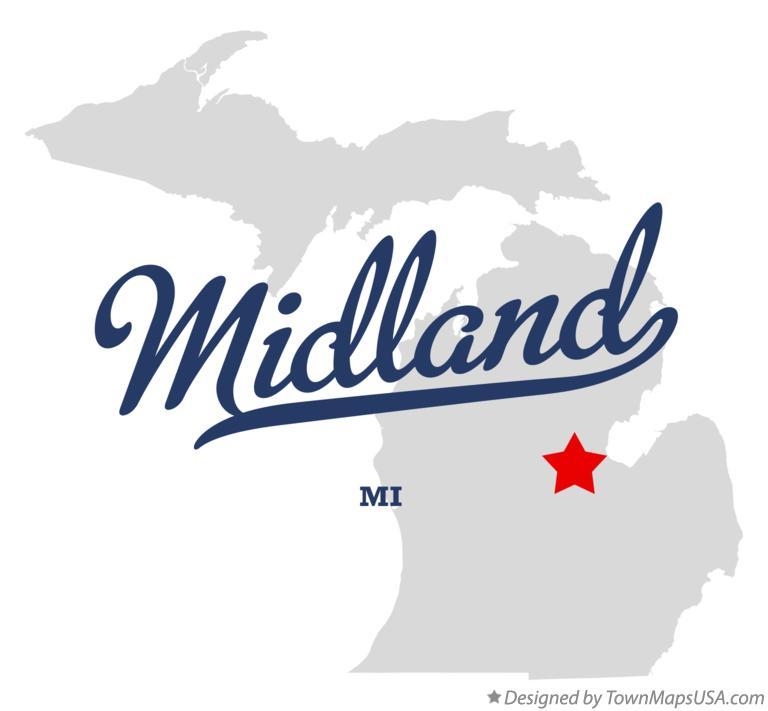 Map Of Midland Mi Michigan
