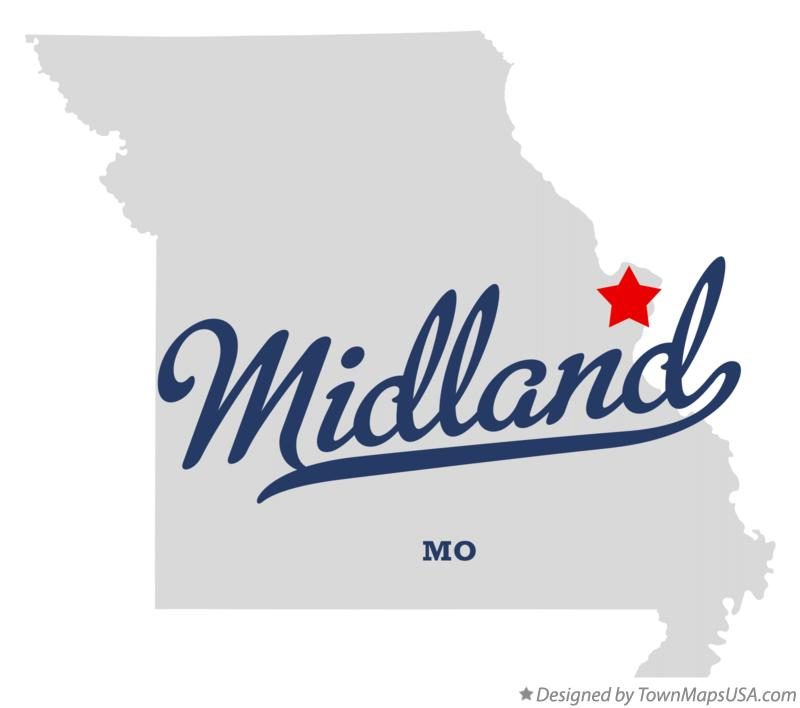 Map of Midland Missouri MO