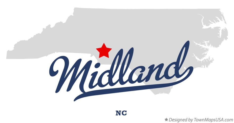 Map of Midland North Carolina NC
