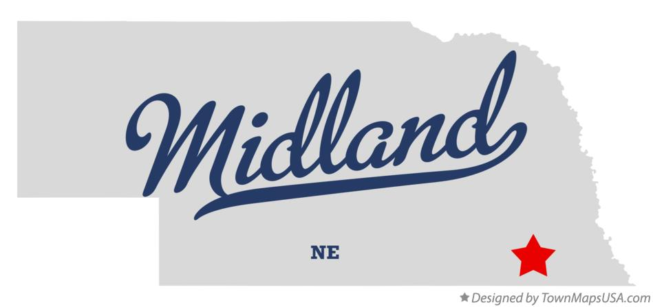 Map of Midland Nebraska NE