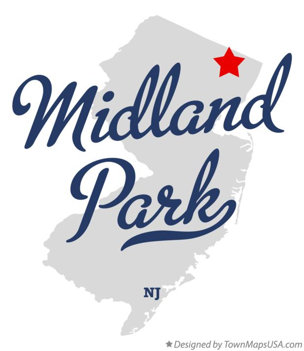 Map of Midland Park New Jersey NJ