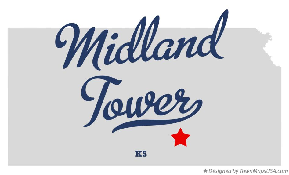 Map of Midland Tower Kansas KS