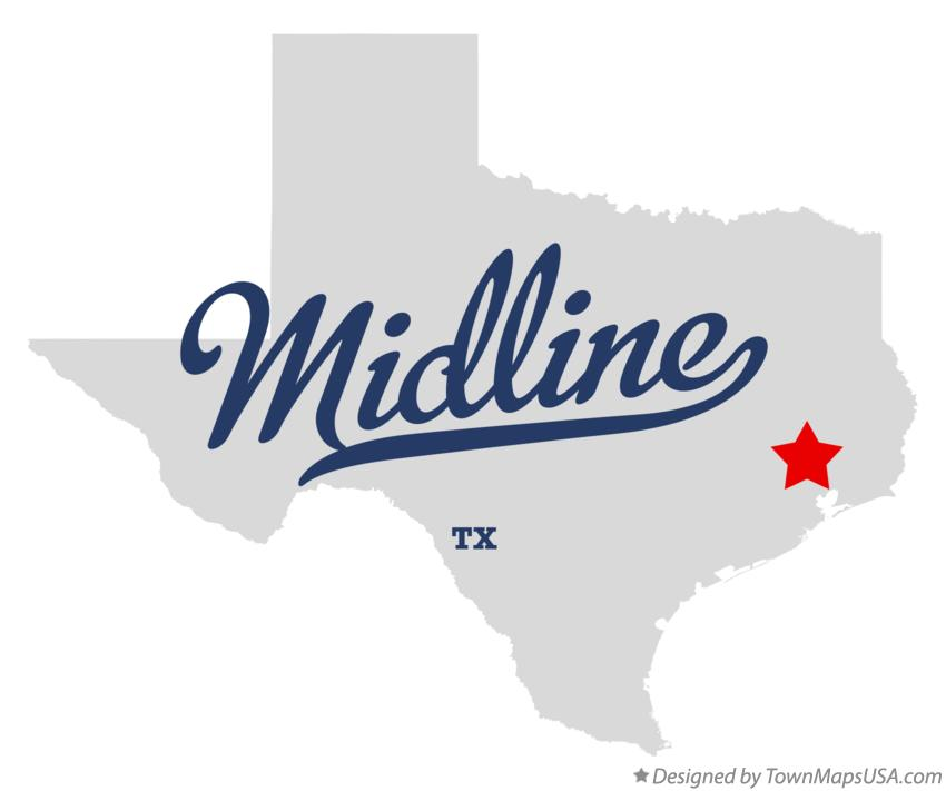 Map of Midline Texas TX